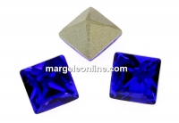 Swarovski, fancy chaton Square, majestic blue, 3mm - x10