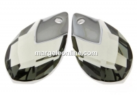 Swarovski, pandantiv picatura, black diamond lt. chrome, 18mm - x1