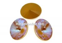 Swarovski, fancy oval, ochre DeLite, 8x6mm - x4