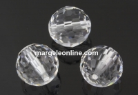 Swarovski, margele, rotund fatetat, crystal, 12mm - x1