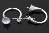 Baza inel ceralun, argint 925, cupa pin, interior 18.2mm - x1