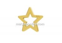 Link steluta argint 925 placat cu aur, 5.5mm  - x2