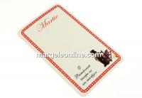 Carton martisor, cosar, 9x5.4cm- x50