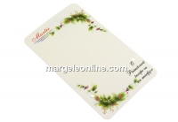 Carton martisor, flori, 9x5.4cm- x50