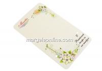 Carton martisor, flori clematis, 9x5.4cm- x50