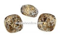 Swarovski, fancy square, lt. colorado topaz silver patina, 12mm - x1