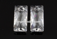 Swarovski, pandantiv Queen baguette, crystal, 13.5mm - x1