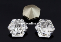 Swarovski, fancy Kaleidoscope hexagon, crystal, 6mm - x2