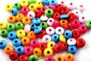 Margele mix multicolor rondela, 7.5mm