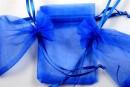 Saculet organza, albastru intens, 9x7cm - x20