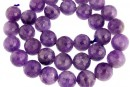 Amethyst, faceted round, 12mm