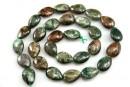 Emerald stone, flat drop 14mm