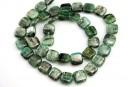 Green kyanite, flat square, 10mm