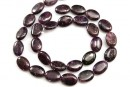 Dark purple kunzite, flat oval, 14mm