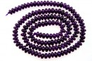 Intense purple jade, rondelle, 4.5mm