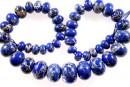 Sediment jasper, royal blue, donnuts, 10.5-21mm