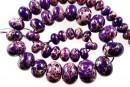 Sediment jasper, intense purple, donnuts, 10.5-21mm