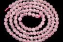 Pink quartz, faceted round, 3.3mm