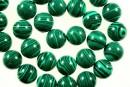 Green syntethic malachite, round, 4mm