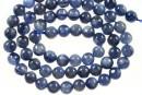 Blue kyanite, round, 6mm