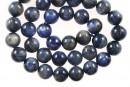 Blue kyanite, round, 10mm