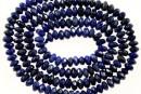 Natural lapis lazuli, faceted rondelle, 3.5-4mm