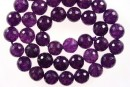 Jade, faceted round, purple, 8mm