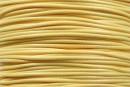 Snur matase cerata pentru bratari, galben pastel, 1mm - 5m