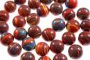 Multicolor syntethic malachite, round, 12mm