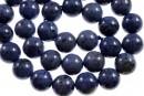 Denim blue dumortierite, round, 10.5mm