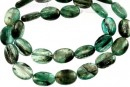 Green kyanite, flat oval, 14x10mm