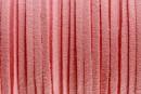 Snur faux suede, roz pastel, 3mm - x5m