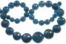 Blue angelite quartz, faceted round, 8-18mm