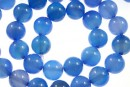 Blue onyx, round, 10mm