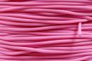 Snur cauciuc satinat, roz, 2mm - x5m