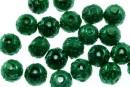 Perle sticla efect, verde intens, 6mm - x50