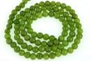 Canadian jade, round, 4mm