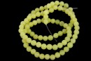 Light olive jade, round, 4mm