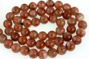 Natural clear sunstone, intense colour, A+ grade, round, 7mm