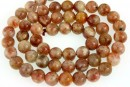 Natural sunstone, intense colour, A+ grade, round, 7mm
