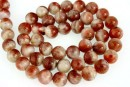 Natural sunstone, A+ grade, round, 8mm
