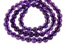 Amethyst, clear, natural, round, 6mm
