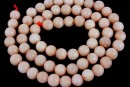 Natural light brown moonstone, round, 6.5mm