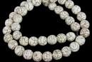 Intense ivory magnesite, round, 10mm