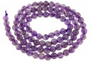 Amethyst, natural, faceted round, 4.5mm