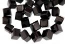 Onix, black, fancy cube, 15mm