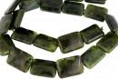 Natural nephrite jade, flat rectangle, 18x13mm