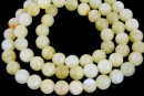 Rainbow jade, round, honey yellow, 6.5mm
