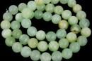 Rainbow jade, round, green, 8.5mm
