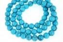 Howlite, syntethic, round, turquoise, 6mm